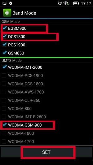 EGSM900, DCS1800 и WCDMA-GSM-900